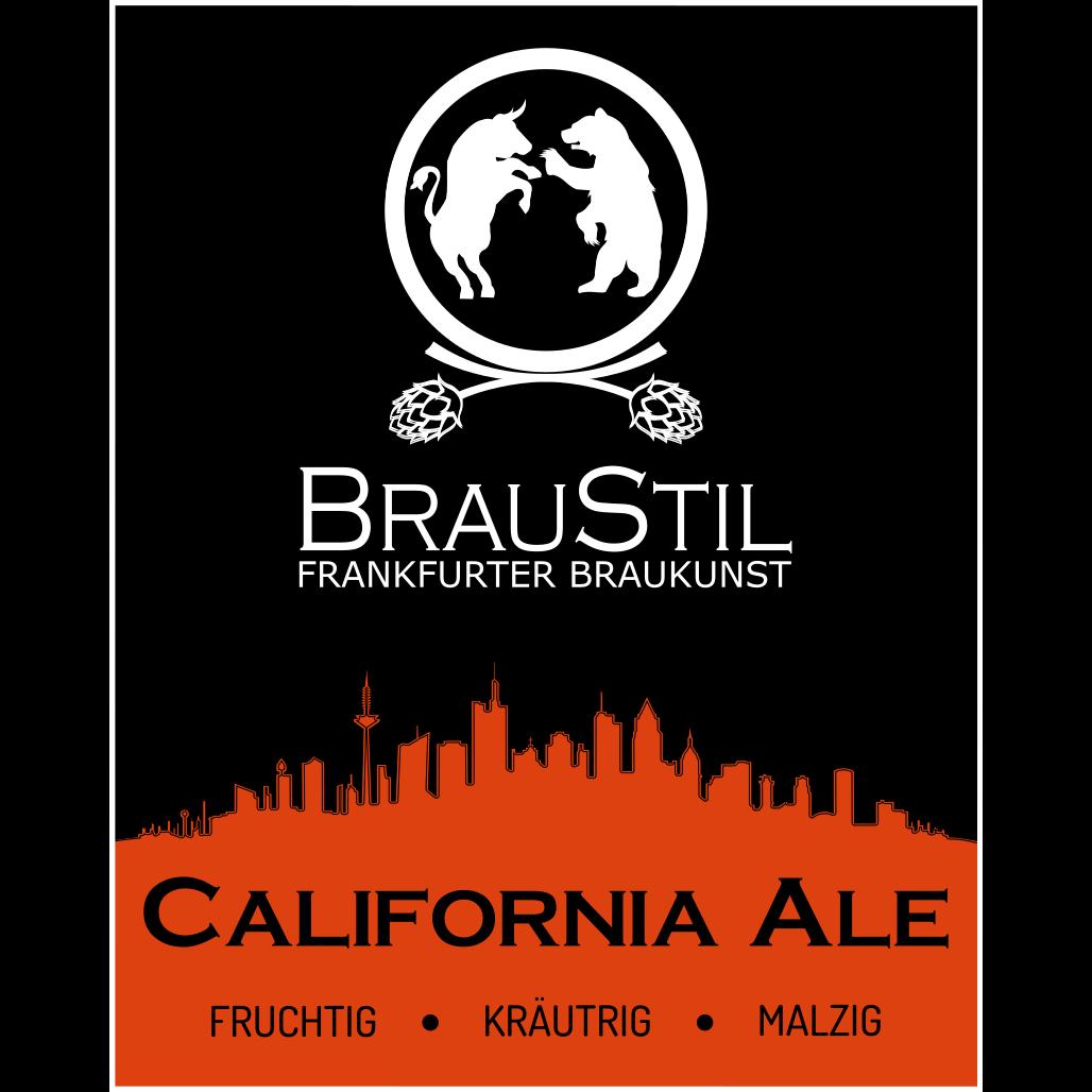 Braustil Etiket Bier California Ale