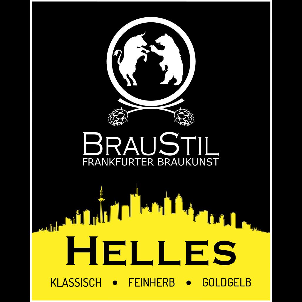 Braustil Etiket Bier Hellse